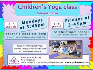 Children's Yoga Summer Term 2015